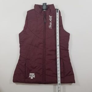 adidas Jackets & Coats - Texas H&M Adidas Women's Red Puffer Vest Size S